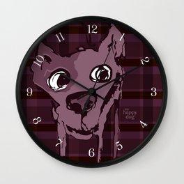 Anton plaid purple Wall Clock
