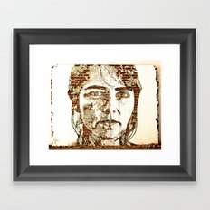 Scratching the Surface (Vhils) Framed Art Print