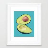 avocado Framed Art Prints featuring Avocado by MagentaRose (UK)