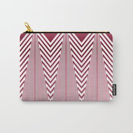 Art Deco Pink Arrowhead Pattern Carry-All Pouch