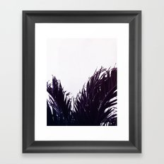 Palm fringe Framed Art Print