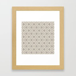 Mapuche Grey/Beige Framed Art Print