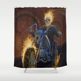 Firebiker Shower Curtain