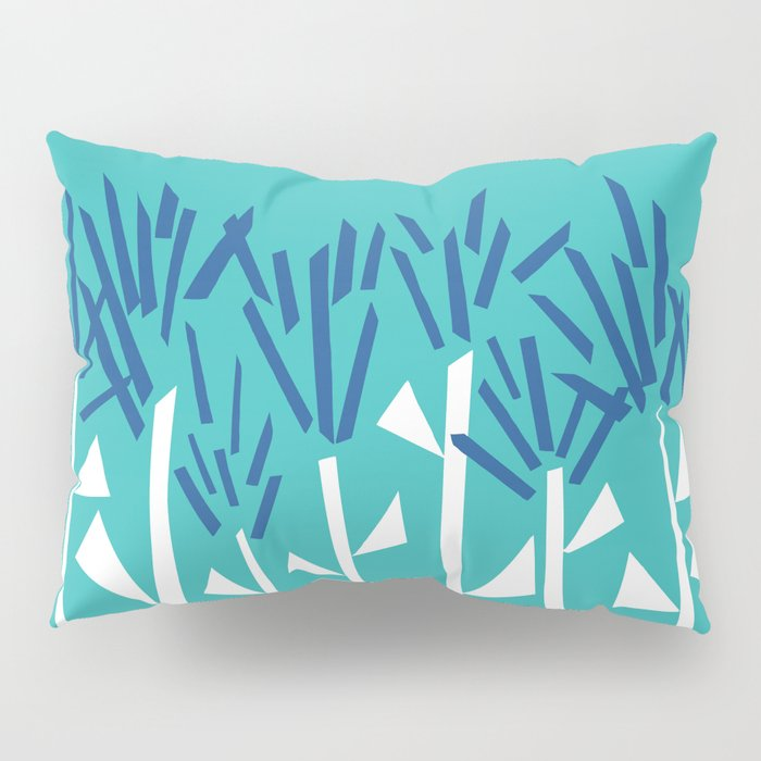 Tropical Blue Plants by Emma Freeman Designs Pillow Sham