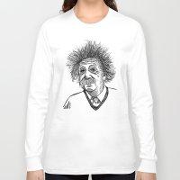 einstein Long Sleeve T-shirts featuring Einstein by AlphaVariable