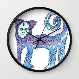 Diamond Kitty Wall Clock