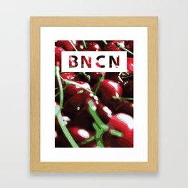 C H E R R Y  B O M B Framed Art Print
