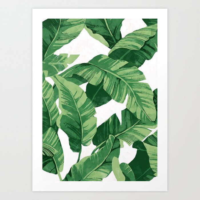 Tropical banana leaves IV Kunstdrucke