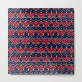 Heart Pattern Red-Blue2 Metal Print