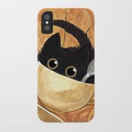 Café Kitty - Fall iPhone Case