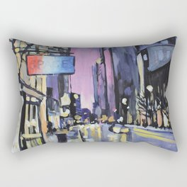 Evening Lights of the Burgh Rectangular Pillow