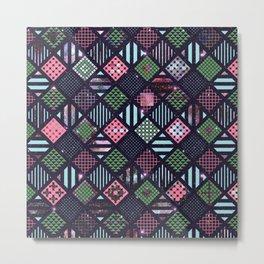 Galaxy Geometric Pattern Metal Print