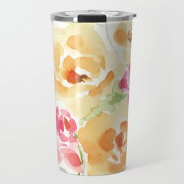 Suede Roses Travel Mug