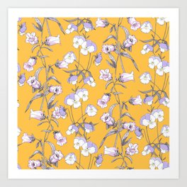 Floral  pattern with wildflowers Art Print
