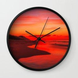 December Sunset Wall Clock