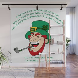 A Randy And Green Leprechaun St Patrick's Day Limerick Wall Mural