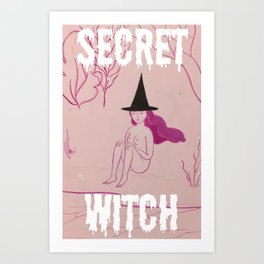 Secret Witch Art Print