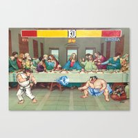 theatre Canvas Prints featuring Dinner Theatre by TheGnarledBranch