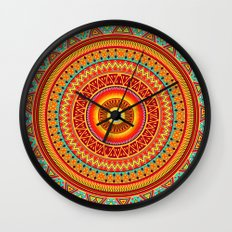 Mandala Aztec Pattern Wall Clock