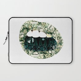 MONEY WHERE YOUR MOUTH IS... Laptop Sleeve