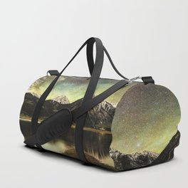 Milky way over twin lakes Duffle Bag