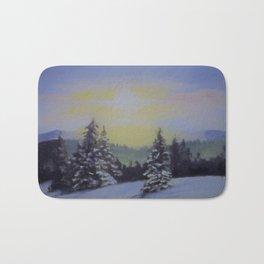 Winter Sunrise Bath Mat