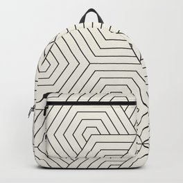 awesome black and white geoetric deign 2 Backpack