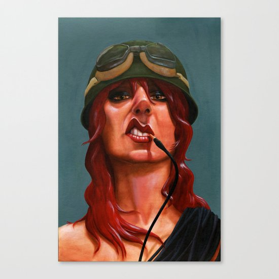 Smoking Cables Canvas Print