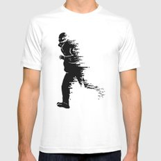 Race against time Mens Fitted Tee MEDIUM White