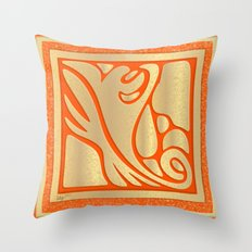 Abstract Gold Throw Pillow