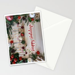 Happy holidays with spoons Stationery Cards