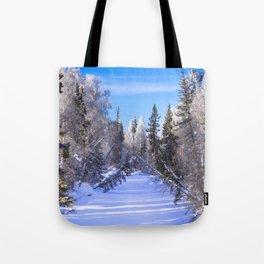 Frozen river Tote Bag