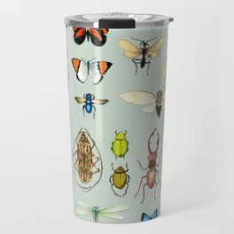 The Usual Suspects - Insects on grey Travel Mug