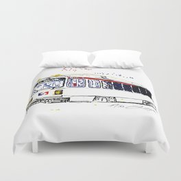 Septa Trolley Art: Philly Public Transportation Duvet Cover