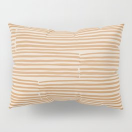 hand drawn light lines – rust Pillow Sham