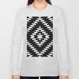 Urban Tribal Pattern No.14 - Aztec - Black Concrete Long Sleeve T-shirt