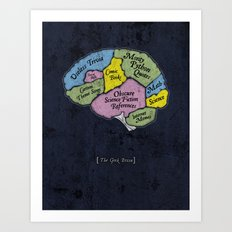 The Geek Brain Art Print