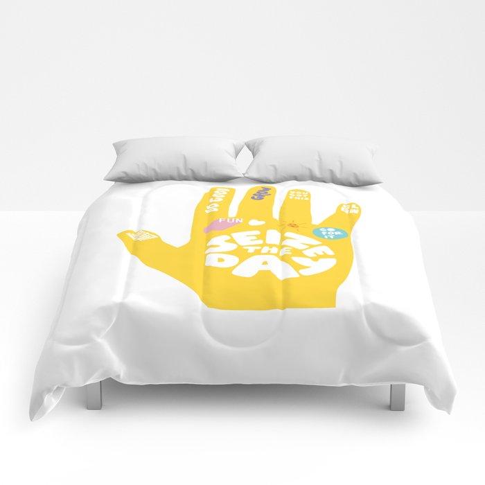 Seize the day – Sunshine hand Comforters