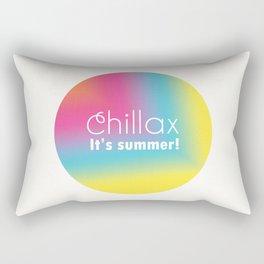 Chillax It's Summer Rectangular Pillow