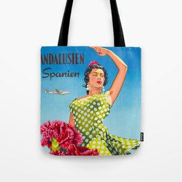 Andalusia - Vintage Travel Poster Tote Bag
