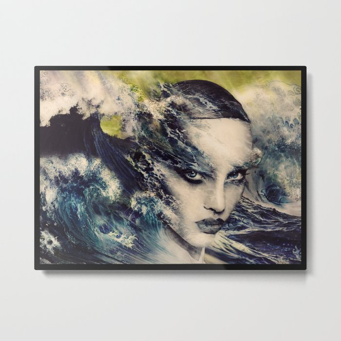 THE STORY OF A LACING WAVE Metal Print