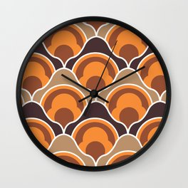 Rising Pumpkins In Orange Wall Clock