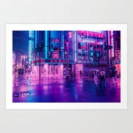 Neon Nostalgia Art Print