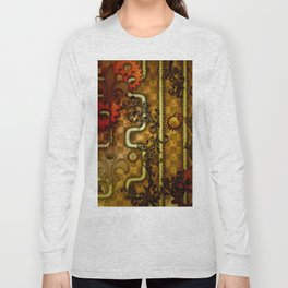 Noble Steampunk design, clocks and gears Long Sleeve T-shirt