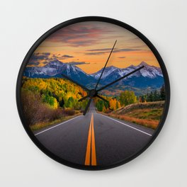The Road To Telluride Wall Clock