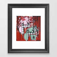 Graffiti Style Character Stay Hungry For Love & Money Framed Art Print