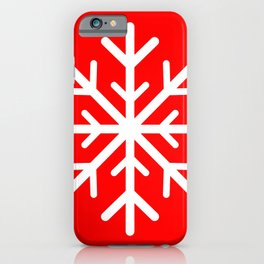 Snowflake (White & Red) iPhone Case