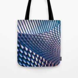Shiny Blue Dimple Abstract Tote Bag