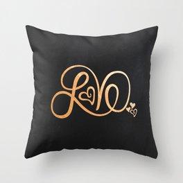 LOVE II Throw Pillow