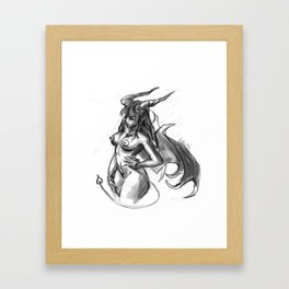 no gravity Framed Art Print
